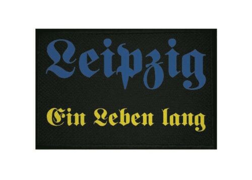Aufnäher Leipzig Ein Leben lang Flagge Aufbügler Patch 9 x 6 cm