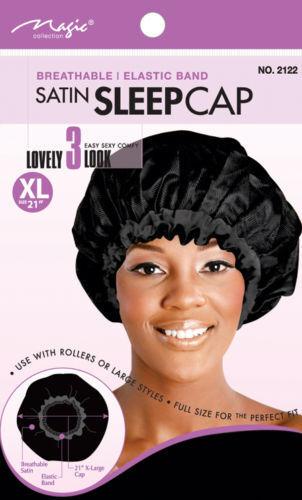 "Magic Collection Satin Sleep Cap Breathable Elastic Band XL 21/""  # 2122AST**"