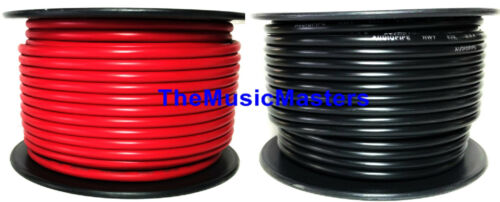 10 Gauge 50/' ft each Red Black Auto PRIMARY WIRE 12V Auto Wiring Car Power Cable