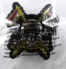 Royal Lancers Scarce Or`s Cloth/White Metal Beret Badge