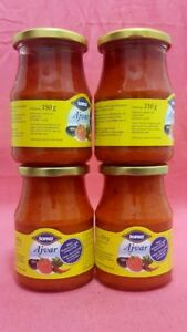 4-Glaeser-Ajvar-Wuerzpaste-Ajwar-4-x-370-G-Paprika-Aubergine-Gewuerz-Sauce
