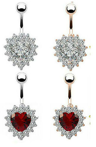 Belly Bars Navel Button Bars CZ Gems Body Dangly Body Piercing Jewellery UK