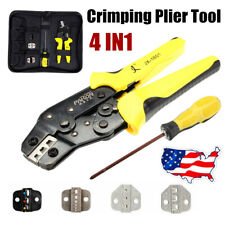 Professional Wire Crimper Pliers Ratcheting Terminal Crimping Tool Screwdiver Us