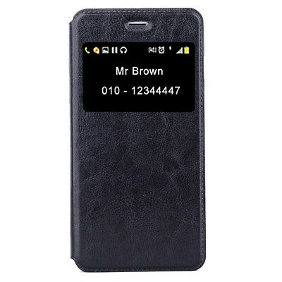 Apple IPHONE 5 CUSTODIA Portafoglio NERO FODERO Cover ECO PELLE +