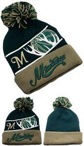 Milwaukee New Leader Blade Deer Antlers Bucks Green Era Beanie Knit Hat Cap