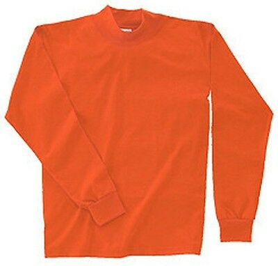 Mens Hi-Visibility Mock Turtle Neck Shirt S-6XL Tall