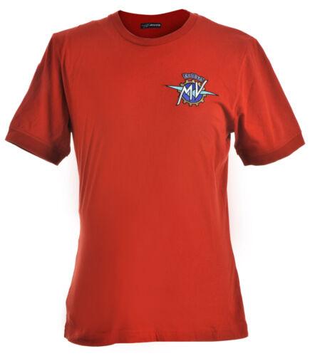 Genuine Mv Agusta T-Shirt Genuine Institutional Red Shirt short Sleeve