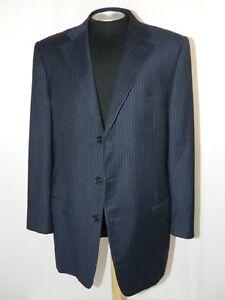 149f11d6a4 Details about Fit 43R US Ermenegildo Zegna Dark Blue Pinstripe Sport Coat  Blazer Jacket