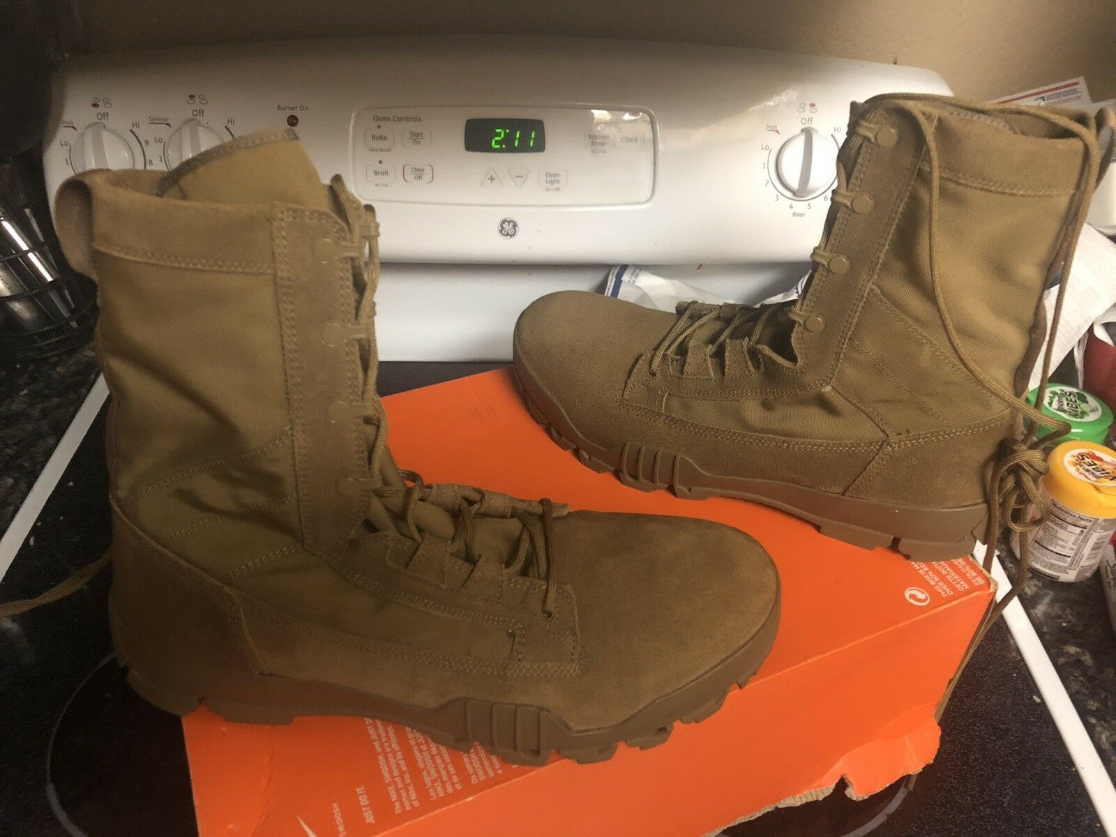 super popular 58fb2 dbe23 NIKE SFB JUNGLE 8 LEATHER FIELD BOOTS SIZE 12.5 828654 900 Acg 12 Jordan