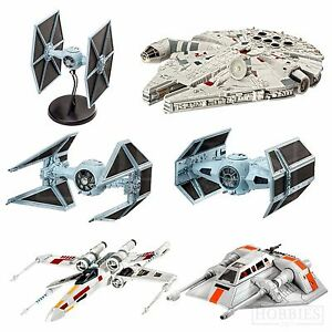 Revell-Star-Wars-Model-Kits-Aircraft-Millennium-Falcon-X-Wing-Tie-Fighter