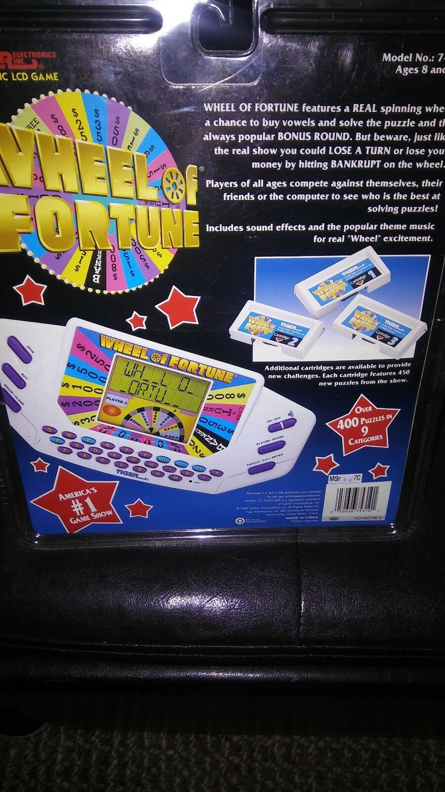 1996 wheel of fortune hand held game