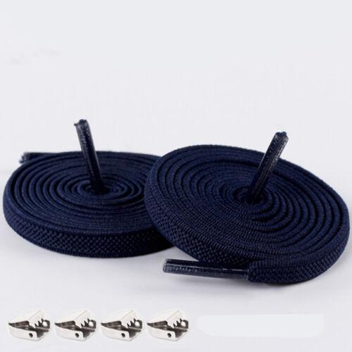 1 Pair Free Tie-free Shoelace Stretch Elastic Lazy Shoelaces Flat Shoe Laces