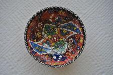 Turkish Kutahya Tile Bowl Porcelain Ottoman Arts 16 cm Embossed  Handmade-15