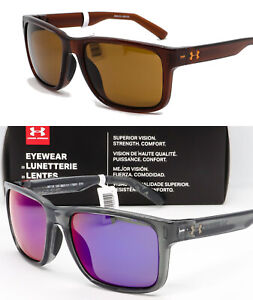 NEW-UA-UNDER-ARMOUR-ASSIST-SUNGLASSES-Crystal-Smoke-Infrared-Mirror-Brown