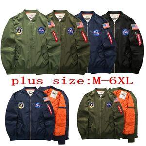 Béisbol Flying Bomber Vuelo Coat Chaqueta Hombres casual Ma1 Nasa Tigers Army Hwx0Yq