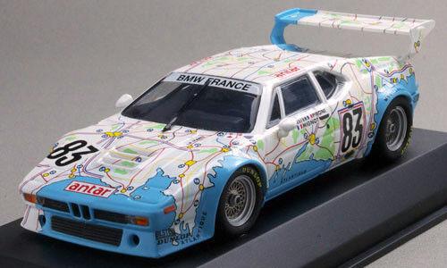 Minichamps 1 43 BMW M1  83 Le Mans 1980 'Carte de France'