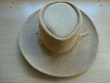 Australian Hat Company Outback Leather Hat Hats Crocodile Dundee style Australia