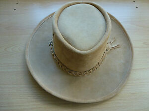 1aca401db8063 Image is loading Australian-Hat-Company-Outback-Leather-Hat-Hats-Crocodile-