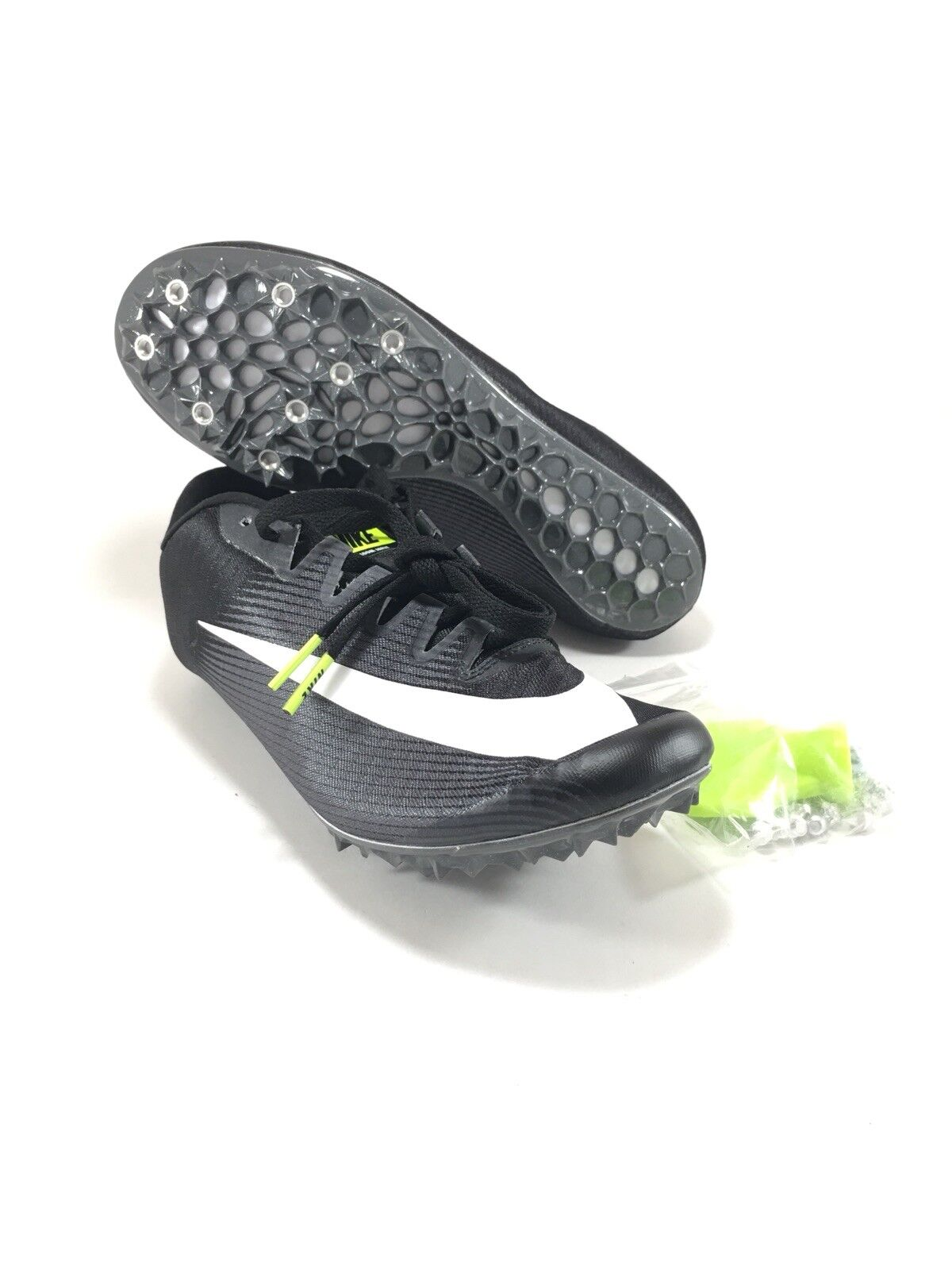 Nike Zoom JA Fly 3 Track Spikes Black White Grey 865633 017 Mens Size 12.5 New