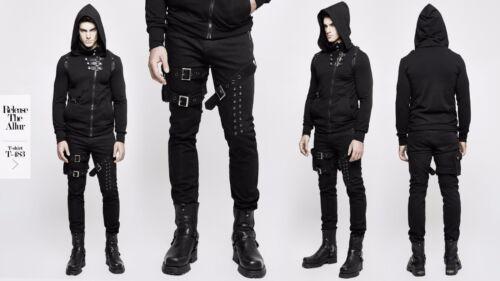 Pouch K-295 AUS STOCK New PUNK RAVE Heavy Metal Rock Gothic Black Mens pants