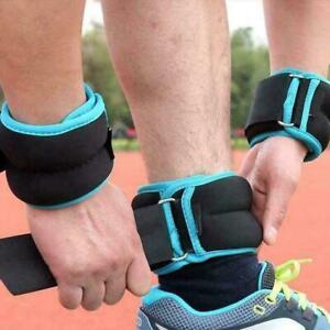 1Pair Ankle / Wrist Weights For Cuff/ Leg Sandbag Equipment Y4Z1 Fitness C4V0
