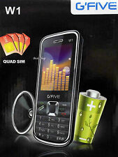 gfive four sim quad sim 4 sim at a time w1 mobile black new gsm 3000 mah black
