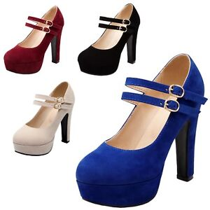 Image Is Loading Ankle Strap Shoes Cross Dresser Kids Plus Size
