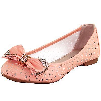 New women's shoes rhinestones ballet flats blink wedding prom summer coral
