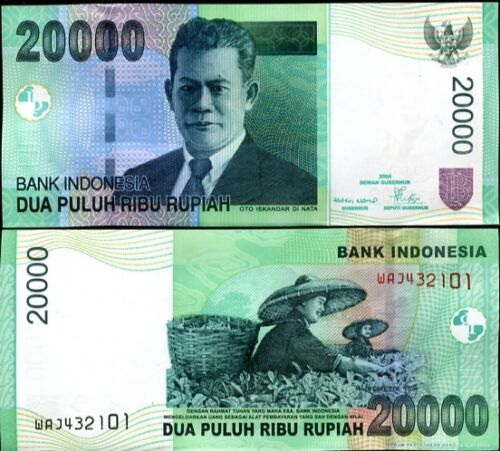 INDONESIA 20,000 20000 RUPIAH 2004//2006 P 143 UNC