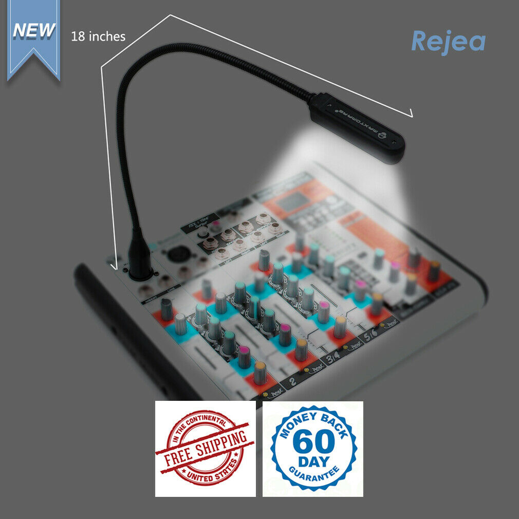 Rejea 12 volts 18 inches LED Console Lamp for Mixer BNC Connector Light Bright
