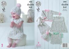 3953f92cc King Cole Double Knitting Pattern 4900 Baby Set 14 - 22 in for sale ...