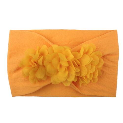 2Pcs Kids Infant Girl Hairband Bowknot Elastic  Flower  Accessories