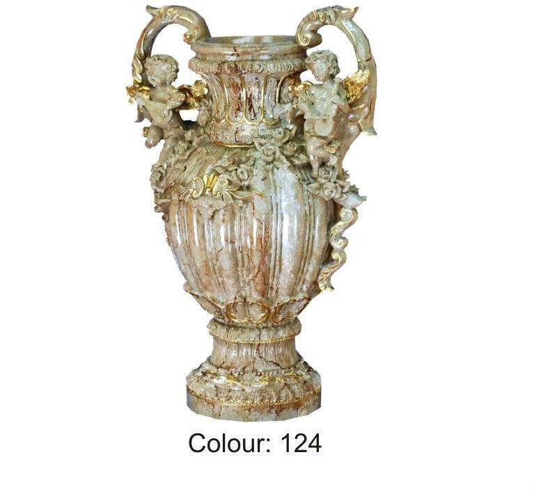 Blaumenkübel Vase Blaumentopf Blaumenvasen mit Style Figuren Marmoriert 0868 K-124