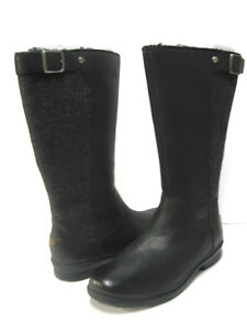 3208b2cabcf Details about UGG JANINA WOMEN BOOTS WATERPROOF LEATHER BLACK US 11 /UK 9.5  /EU 43