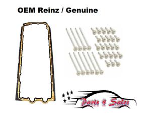 NEW BMW E60 E82 E90 E93 Engine Oil Pan Gasket with Engine Oil Pan Bolt Set SET