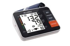 AccuMed ABP802B New Portable Upper Arm Blood Pressure Monitor ~ Lifetime Support