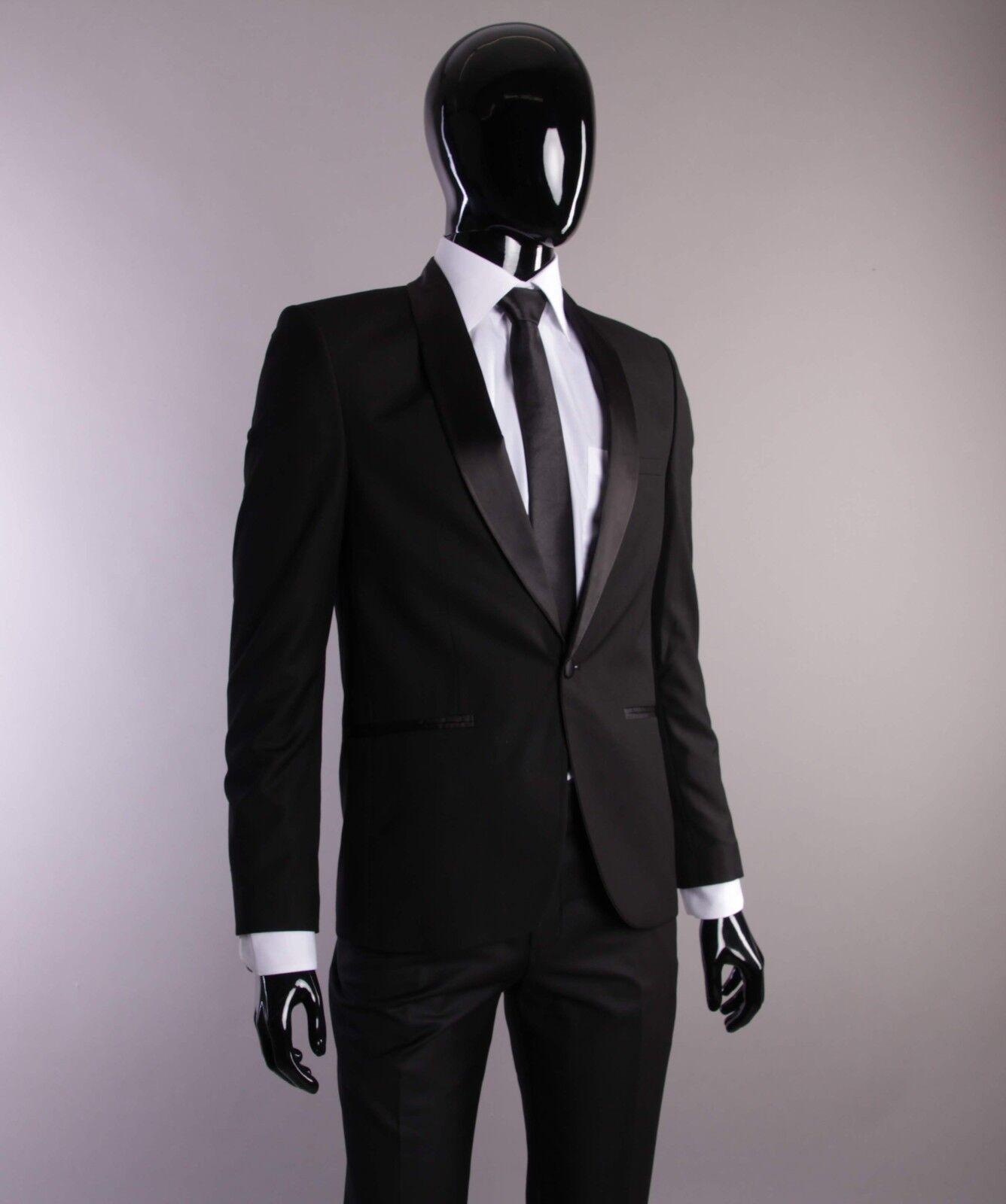Smoking in Schwarz - Slim und Regular Fit - Bräutigam Anzug Herrenanzug Bühne