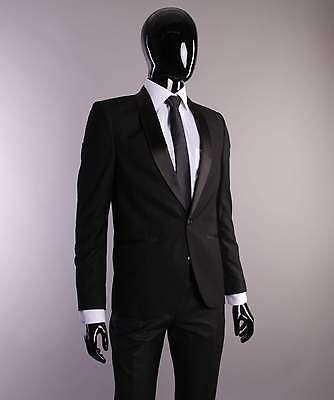 Dynamisch Smoking In Schwarz - Slim Und Regular Fit - Bräutigam Anzug Herrenanzug Bühne Seien Sie Im Design Neu