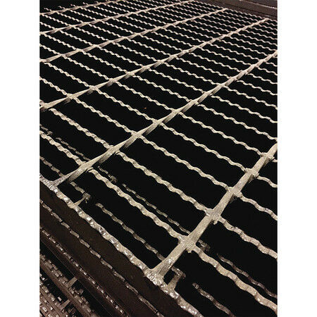DIRECT METALS 20188R100-C4 Bar Grating,Serrated,36In H W,1In