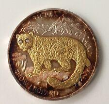 10 Dollars 2005 Liberia Nepal Snow Leopard Brillant Augen. 929