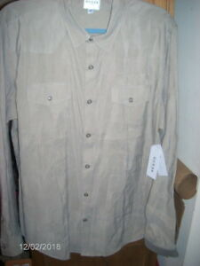 GUESS-Mens-SOFT-Sandwashed-Western-Snap-Button-Slim-Fit-Shirt-Tan-79-NWT