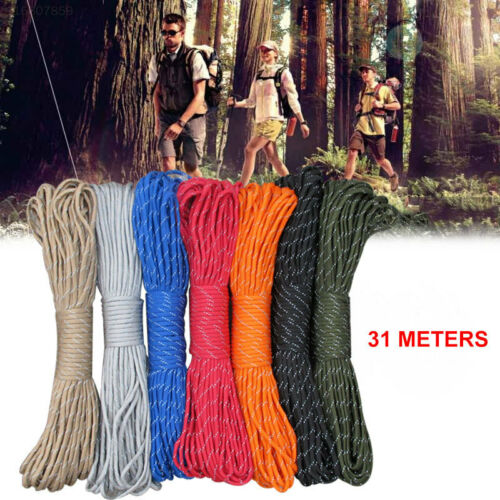 4856 Diameter 4mm Tent Rope Heavy Load Explore Outdoor Parachute Rope Camping