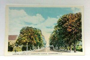 Cedarhurst-Long-Island-New-York-Central-Avenue-Vintage-Postcard