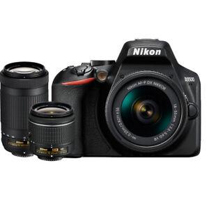 Nikon-D3500-24MP-DSLR-Camera-w-AF-P-18-55mm-VR-amp-70-300mm-Dual-Zoom-Lens-Bundle