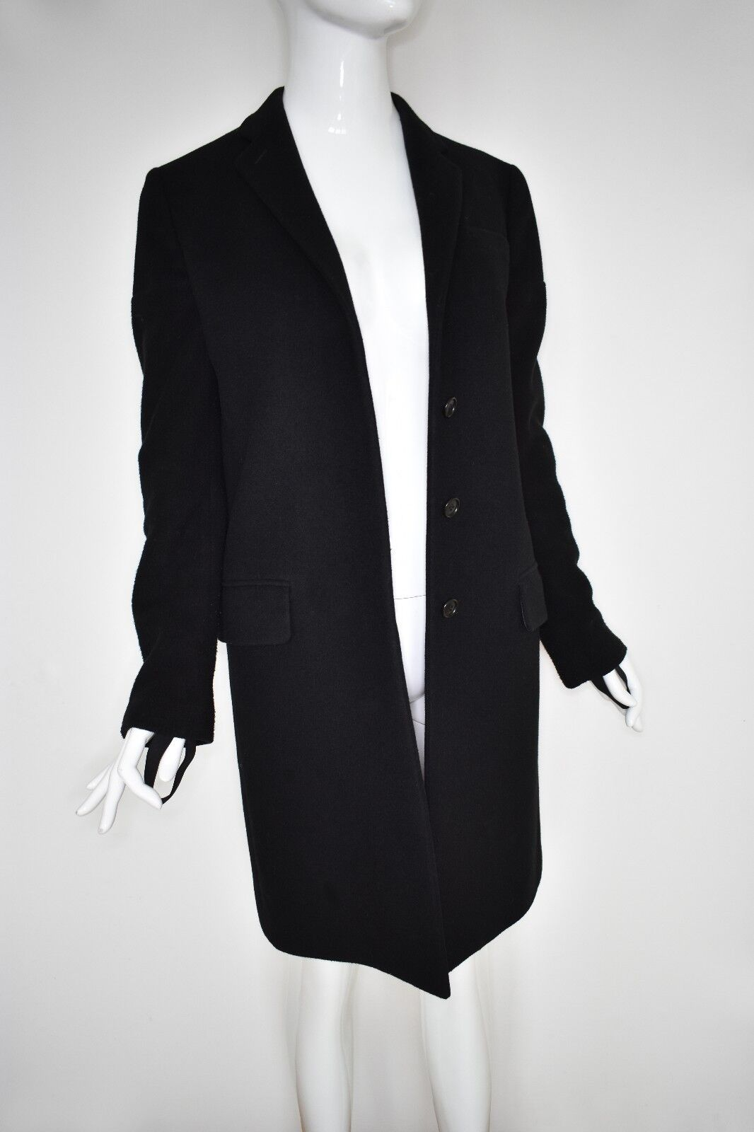 HELMUT LANG coat navy Blau Größe 42 IT 38 details on sleeves WOW made in italy vi