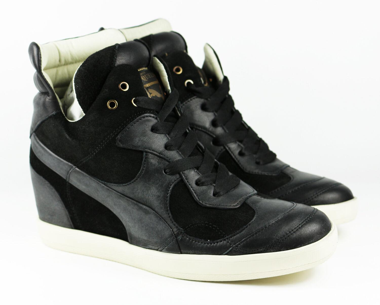 Puma alexander mcqueen AMQ ofeya zapatos señora botas negro cortos