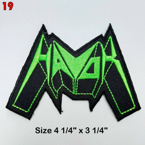 Heavy Metal Rock Punk Hiphop Band Music Iron On Patches Sew Embroidered DIY #10