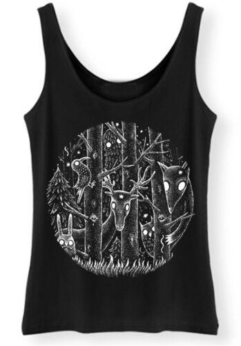 Dark Forest Tank top womens fantasy alice woodland goth burton magical gothic