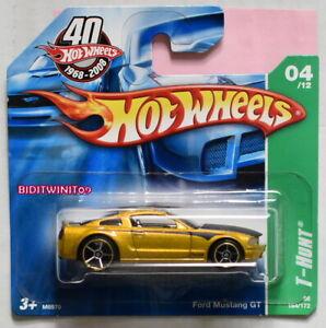 2008 Hot Wheels Treasure Hunt #164 Gold Ford Mustang GT
