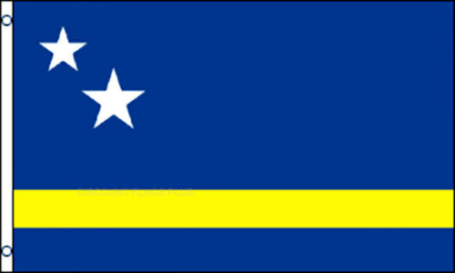 Curacao  International  3x5 Polyester Flag